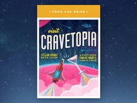 Visit Cravetopia - Travel Postcard