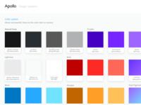 Apollo Design System - Color