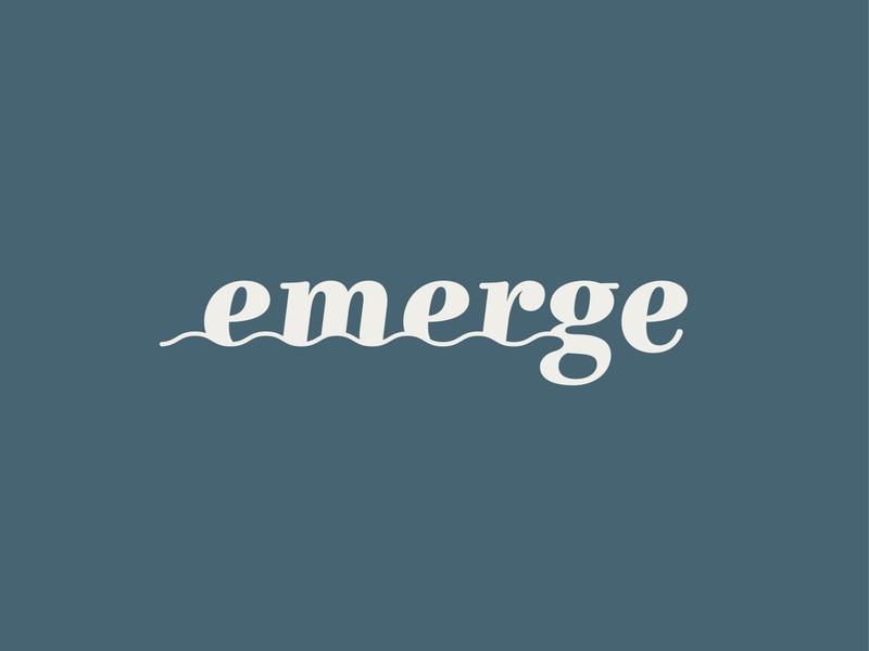 Emerge Logo health wellness therapy waves
