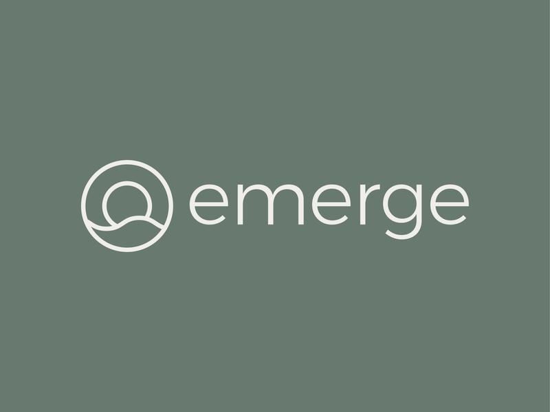 Emerge Logo 2 logomark identity logo branding hill wave therapy