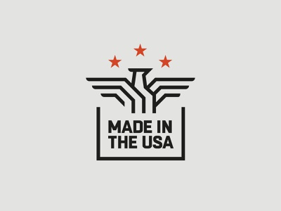 Made in the USA mark branding logo stars icon bird badge usa eagle