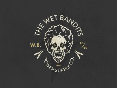 The Wet Bandits Power Supply Co. skull badge logo home alone electricity power wet bandits xmas holidays days christmas 12