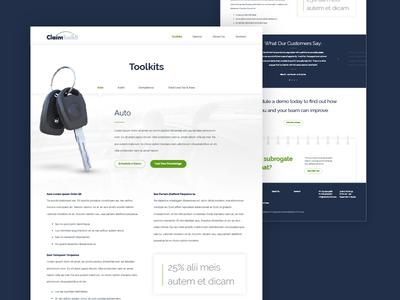 Claim Toolkit :: Auto Toolkits Page simple toolkit auto insurance claim insurance ui ux web design web