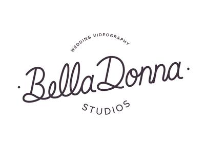 Bella Donna Studios Logo type videography photography branding identity logo