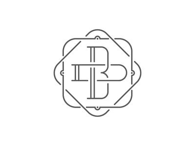 BD Wedding Mark fine lines wedding logomark logo d b