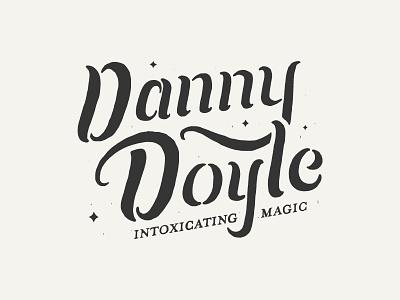 Danny Doyle Magician Logo typography lettering magic magician identity branding logo