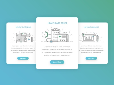 Oneview Illustrations modern clean patient wellness medical health card line branding icon illustration