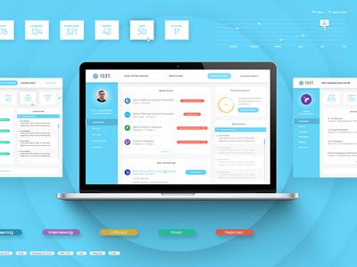 Job Board UI Elements search recruiter candidate jobs apply clean modern dashboard ux ui web design web