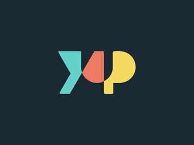 Yup Logo Concept yup word flat color simple typography design mark type logo branding