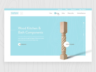 Custom Wood Components Homepage woodworking homepage e-commerce interior design design custom wood wood
