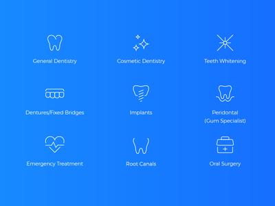 Dental Icons illustration teeth icons icon dental dentist