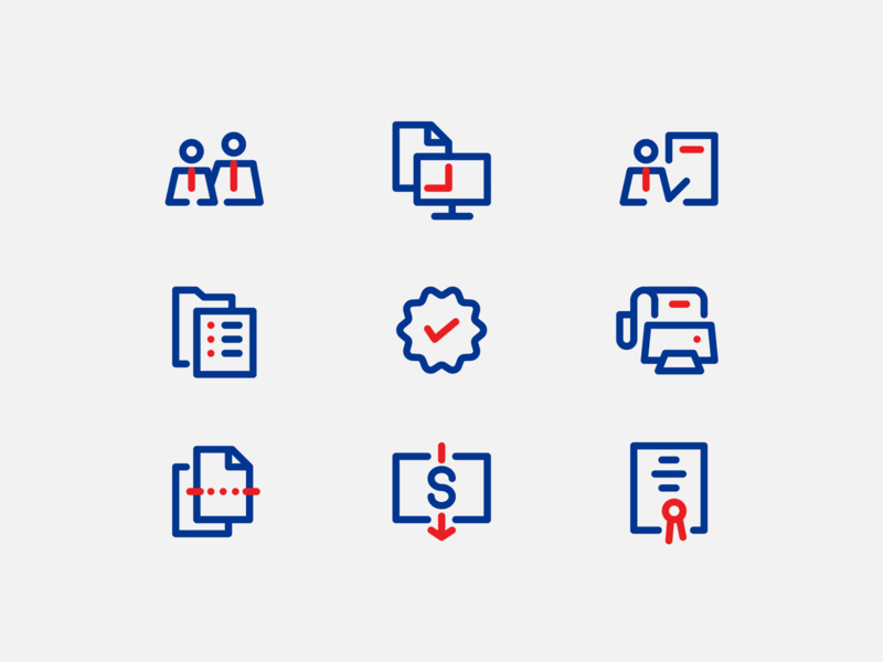 Business Services Icon-pack web ui line icons two-tone clean illustration branding icon vector simple design