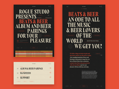 Beats & Beer - Screens website design product page ui animation web-design passion project tech beer music branding typography web design and development web design agency web design product design website ux graphic design web ui design