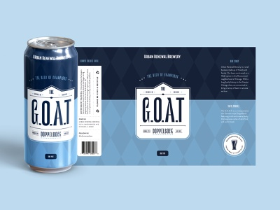 The Goat - Urban Renewal Brewing vector tom brady chicago beer label design design for beer label graphic design for beer label beer can label beer can art beer packaging design packaging beer packaging beer branding beer label illustration branding typography graphic design design