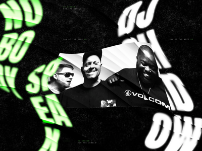 Jam Of The Week | 80 ghost weird type warped type illustration graphic design album cover art album cover album art musician passion project collaboration music and design dj shadow hip hop music rogue studio jam of the week run the jewels typography design