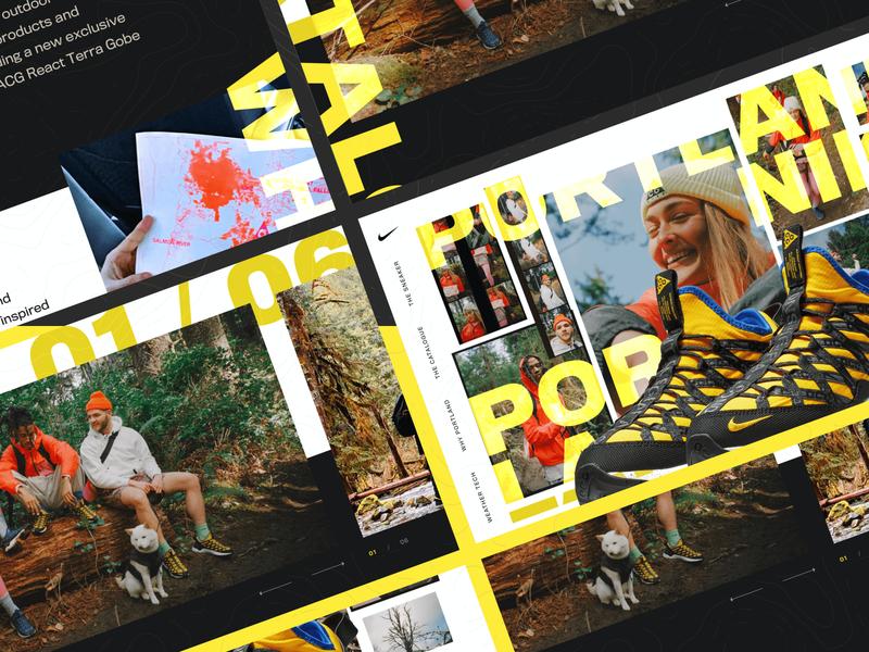 Nike Portlands nike air max rogue studio digital design shoe website nike website design web design digital product design typography product design nike shoes portland nike campaign nike web concept website ui ux web graphic design design