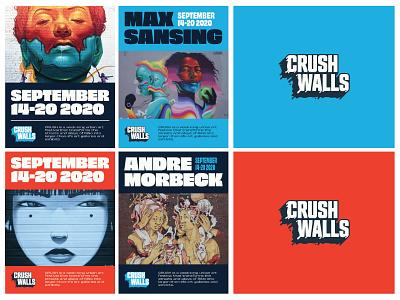 Crush Walls: Branding & Identity branding design festival branding street streetart denver logo design identity design brand design brand identity product design website branding typography graphic design design