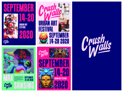 Crush Walls: Dead Logo II denver rogue studio branding design logotype logo logo design streetart street art festival crush walls festival branding product design illustration typography website branding graphic design design logo type logotypedesign script