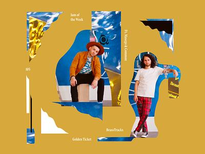 Jam of the Week | 105 album artwork album art cover design music cover brasstracks common masego passion project cool product design branding illustration typography web website graphic design design jam of the week