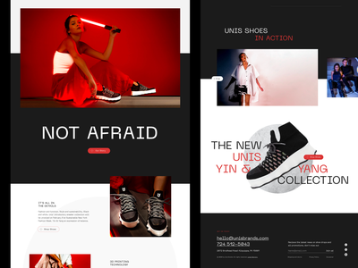 Unis Footwear: Homepage ecommerce business mobile design web design digital product design streetwear brand fashion brand online shoe store shoe brand sneakers online store ecommerce design ecommerce branding product design web ui website typography graphic design design
