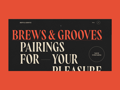 Brews & Grooves: Homepage rogue studio brews and grooves web development music website beer ui ui animation music and beer website motion design website design web design branding illustration product design ui web ux typography website graphic design design