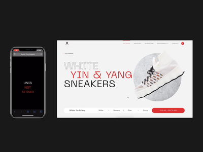 Unis Footwear: Yang Sneakers sustainable sneakers shopify web design branding animation ui animation mobile product design product design typography ux website web ui graphic design design ecommerce design womens sneakers sneakers ecommerce unis footwear