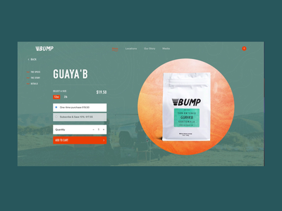 Bump Coffee Product Page Guaya'b rogue studio web experience retail experience ecommerce design website design webdesign typography ux website web ui design graphic design coffee shop coffee product design interactive design motion design animation ecommerce