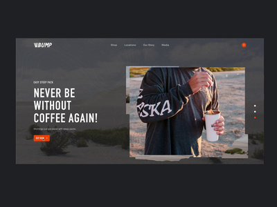 Bump Coffee Product Page: Trail Blazer Pack ecommerce shop experiencedesign interactive experience web design and development website web ui design ecommerce design shopify store coffee website coffee rogue studio web design agency web design product design mobile animation motion design ecommerce