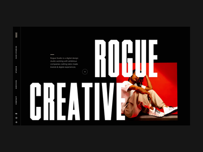 Rogue Site Update interactive design ui animation rogue website homepage mobile design motion design animation rogue studio rogue website design ux web design product design branding website typography web ui graphic design design