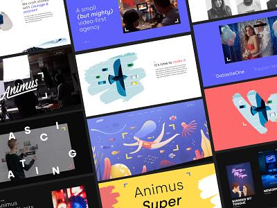 Animus Full Website logo identity web design agency web design brand development development website design product design branding ux website web ui typography graphic design design