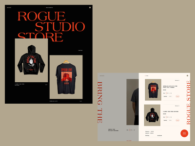 Rogue Store passion project animation ui animation rogue studio swag retail web design ecommerce illustration product design branding ux website typography web ui graphic design design
