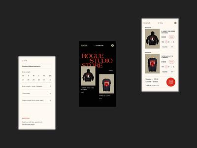 Rogue Mobile web design company rogue store online store retail ecommerce web design website design illustration product design branding ux website typography web ui graphic design design