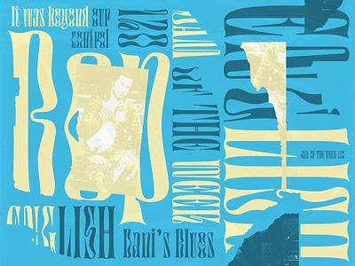 Jam of The Week | 121 collage art color album art album art indie rock passion project animation austin texas colorful rock bop english rogue studio jam of the week cool music illustration product design branding typography graphic design design