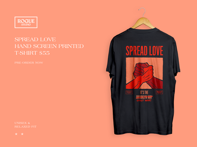 Spread Love It's The Only Way rogue website web ui love equality brand identity product design illustration t-shirt design t-shirt brooklyn spread love illustration product design branding typography graphic design design