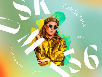 Jam of the Week | 136 rogue studio tash sultana psych-rock alternative rock indie rock cover art album art passion project branding illustration typography graphic design design jam of the week