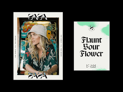 ZaZa Dead Design Direction culture streetwear cannabis identity design brand identity cannabis branding ui web logo illustration website typography graphic design design branding
