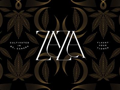 ZaZa Luxury Direction zaza brand strategy brand identity design cannabis branding cannabis culture cannabis packaging design graphic design typography illustration design branding