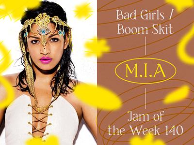 Jam of the Week   140 website web passion project album art art direction bad girls creative direction illustration branding typography ui graphic design design mia hip hop jam of the week