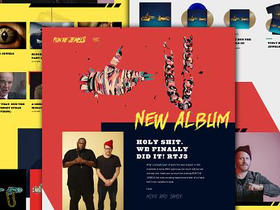 Run The Jewels | Concept 2 jewel runners underground crew hip hop music run the jewels design website ui