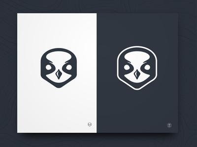 Black Cap Logo bird chickadee identity logo branding