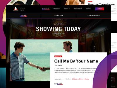 Showtimes Screen ux ui website web cinema movies
