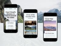 Globetrek Homepage – Mobile