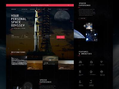 #Spacedchallenge travel website dann petty future space ux ui challenge spaced