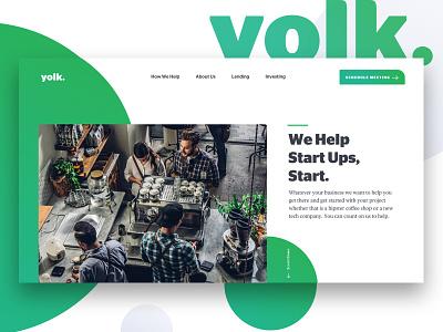 Yolk. finance business start up ui design website