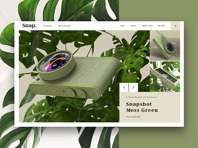 snap website graphic design design fun web personal project ux ui website camera