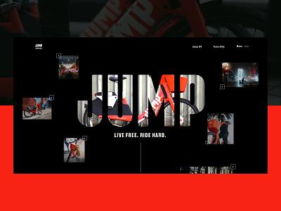 Jump Bikes silicon valley e-bikes tech branding website ux ui web design