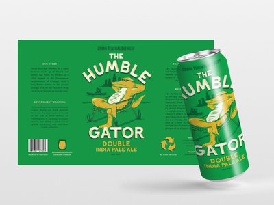 Humble Gator Beer chicago brewery gator beer label beer can package mockup package design packaging illustration graphic design design