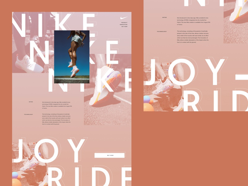 Nike Joyrides typography concepting concept design art direction design art direction graphic design website ux web ui design