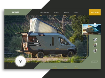 Hymer Camper Van Concept automotive design tech outdoor adventure website rogue website ux graphic design travel campervan ui web design camping