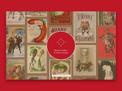 Have A weird Christmas - Explore Screen web-design done for fun passion project interface design typography christmas card christmas explore screen graphic design website design ux web ui